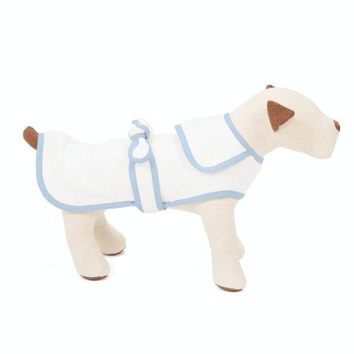Blue Terry Cloth Dog Robe, X-Small