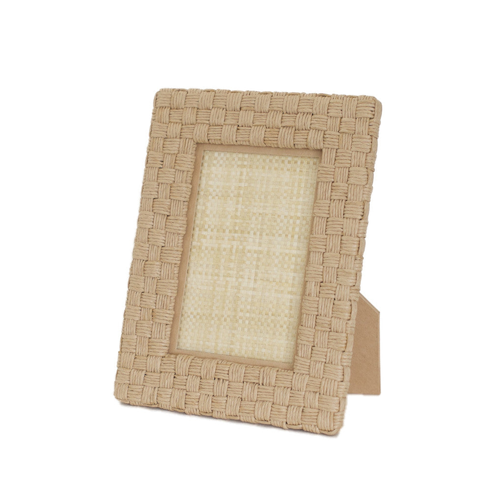 Genova Natural Rope Picture Frame, 4X6