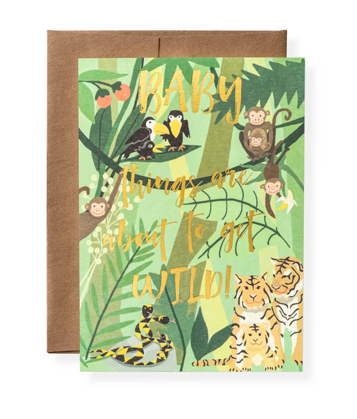 Karen Adams Greeting Card - Baby, Wild Baby