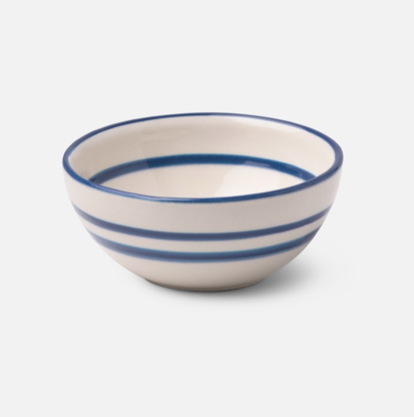 Blue Striped Cereal Bowl