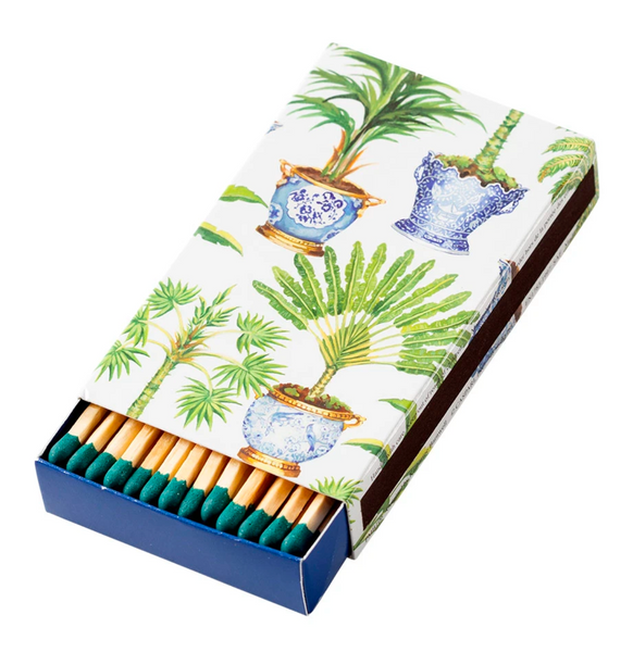 Potted Palms Match Box