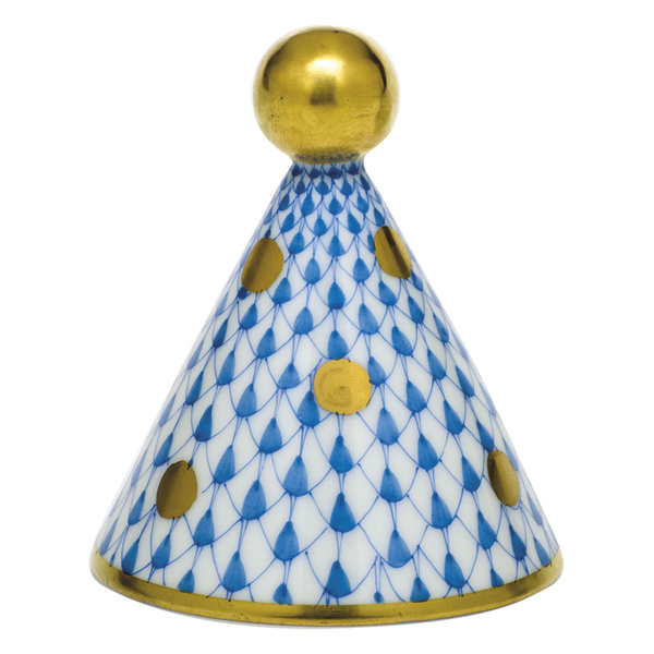 Herend Party Hat, Blue
