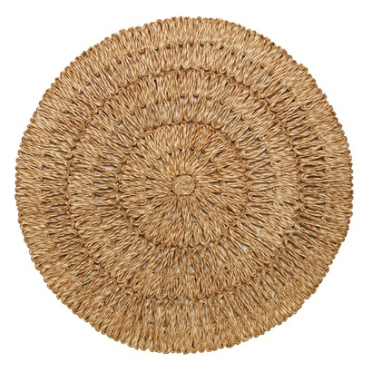 Juliska Round Placemat Straw Loop, Natural