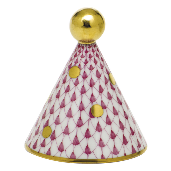 Herend Party Hat, Raspberry Pink