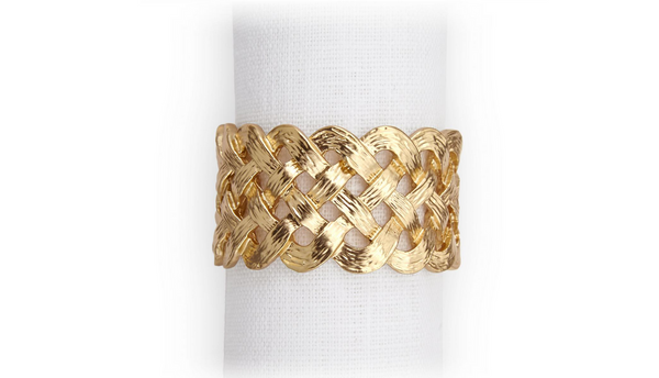 Braid Napkin Jewels Gold, Set of 4