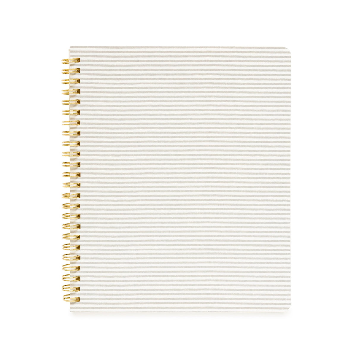 Gray Stripe Spiral Notebook