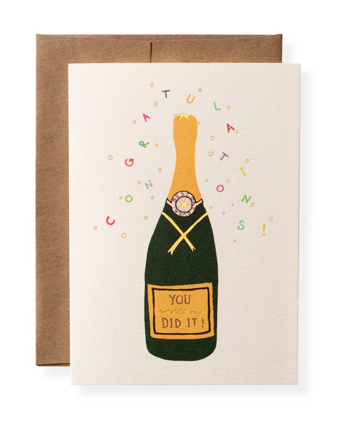 Karen Adams Greeting Card - Congrats, You Did It