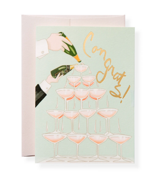 Karen Adams Greeting Card Congrats, Veuve