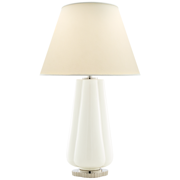 Penelope Table Lamp in White