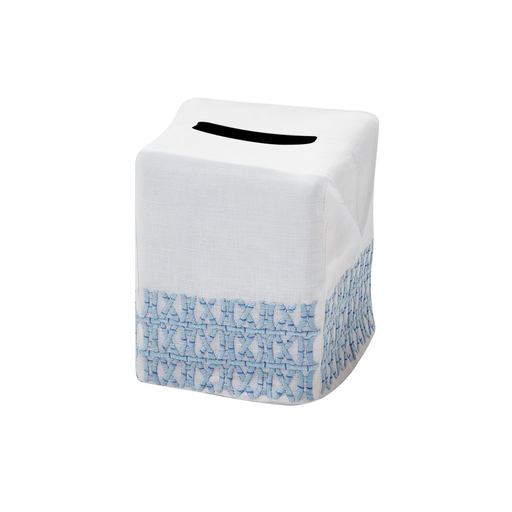 New Bamboo Tissue Box Cover, Blue