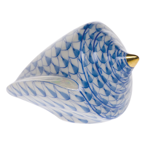 Herend Cone Shell, Blue