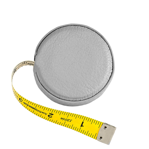 Graphic Image Leather Tape Measure, Gray