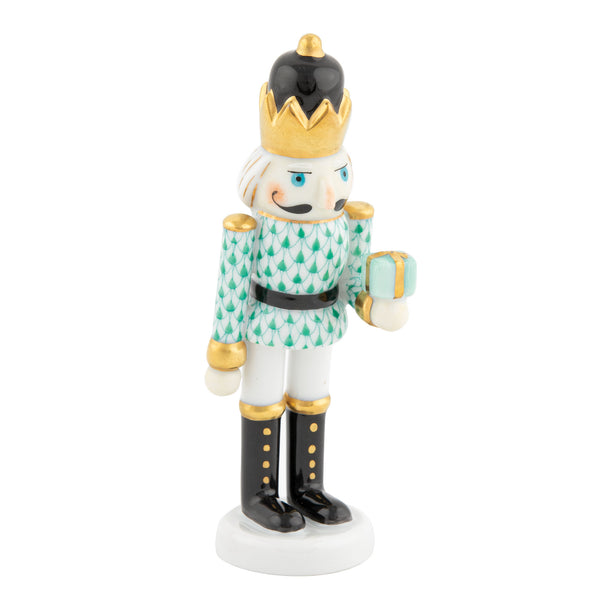 Herend Nutcracker with Gift, Green
