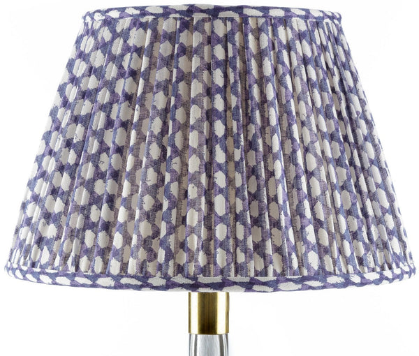 Fermoie Wicker Lamp Shade in Indigo
