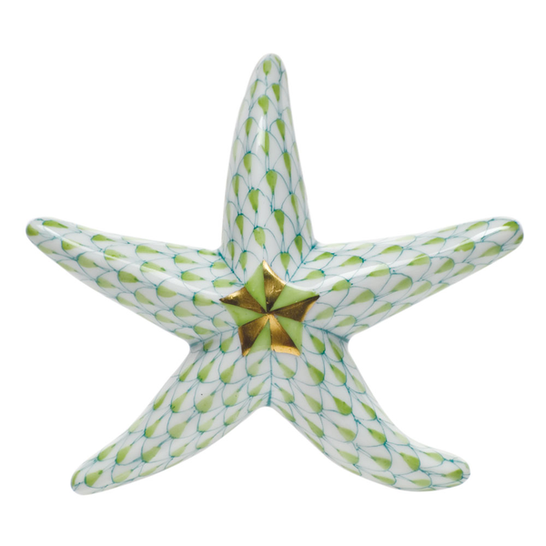 Herend Miniature Starfish, Key Lime Green