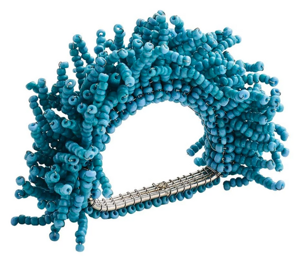 Carnival Beaded Napkin Ring, Turquoise