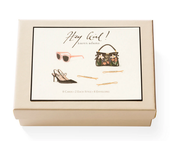 Karen Adams Note Card Box, Hey Girl