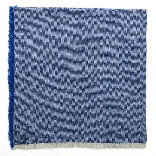 deborah rhodes herringbone fringe napkin set of 4, royal
