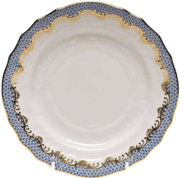 Herend Fish Scale Bread and Butter Plate, Light Blue 6""