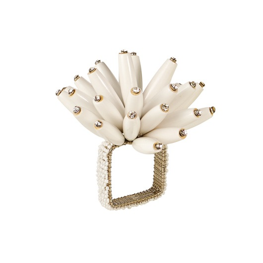 white wood constellation napkin ring
