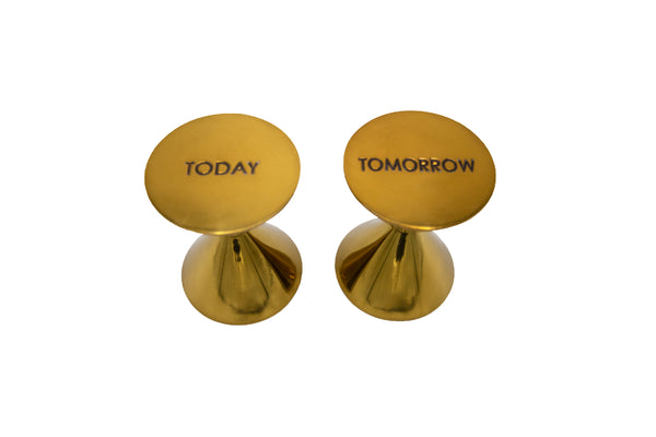 Brass Paperweights, Set of 2