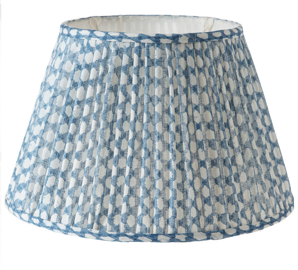 Fermoie Wicker Blue Lamp Shade