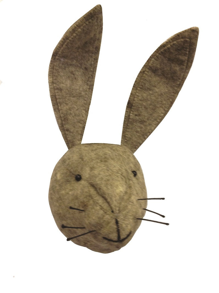 Grey Hare Felt Head