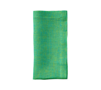 Cross Dye Linen Napkin, Lime, Set of 4