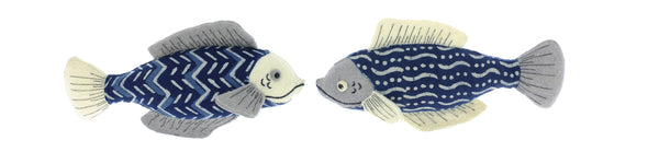 Albetta Pair of Hanging Batik Fish