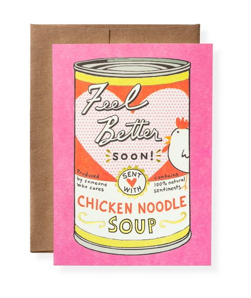 Karen Adams Greeting Card - Sympathy, Chicken Soup