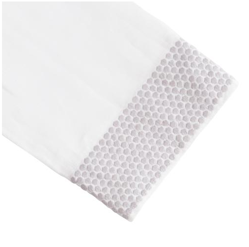 Honeycomb Tip Towel, Gray