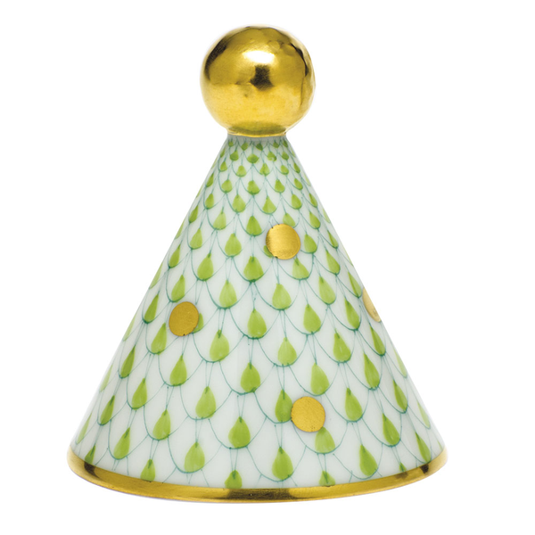 Herend Party Hat, Key Lime Green