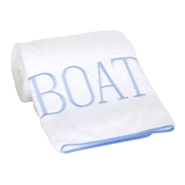 boat towel soft blue