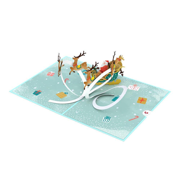 Pop Up Card, Santa Sleigh