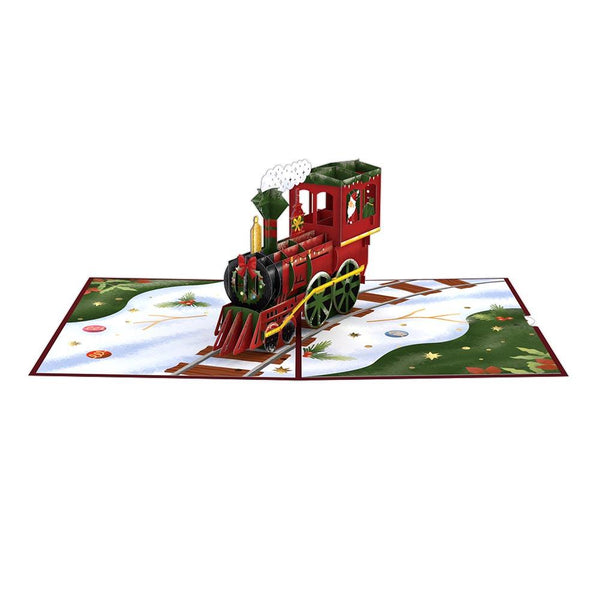 Pop Up Card, Santa Train