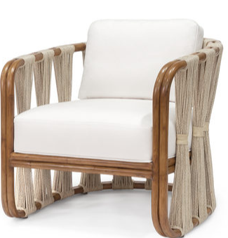 Strings Attached Lounge Chair, Perennials Raffia Oyster