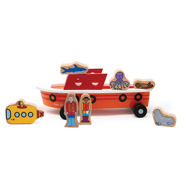 Ocean Explorer Magnetic Wooden Ship