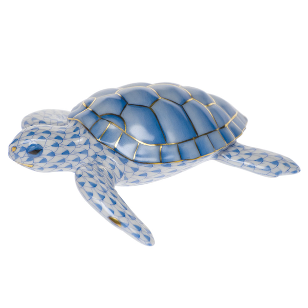 Herend Loggerhead Turtle, Blue