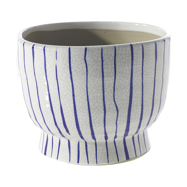 Ripple Vase Blue and White, Medium