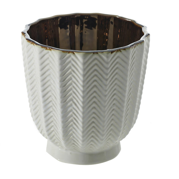 White Melrose Pot, Small