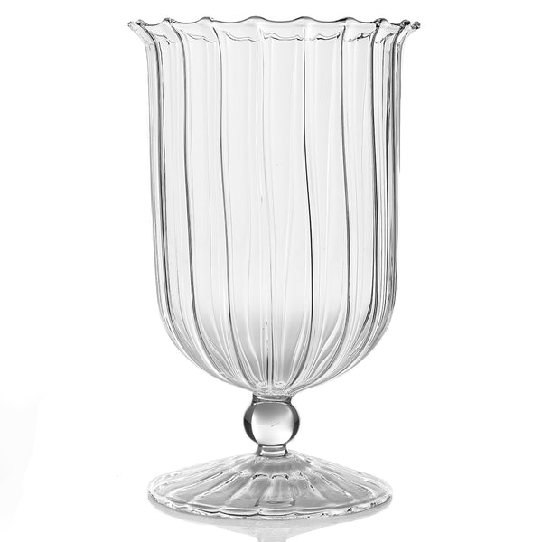 april clear glass vase