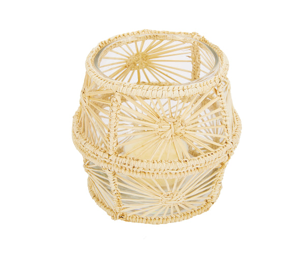Raffia Candle Holder