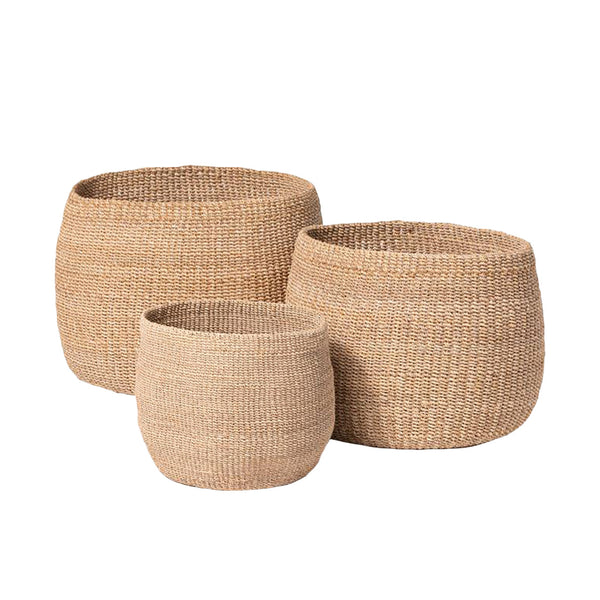 Abaca Basket, Medium