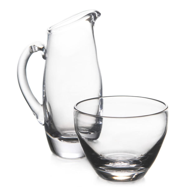 Simon Pearce Addison Glass Pitcher & Sugar Bowl Set