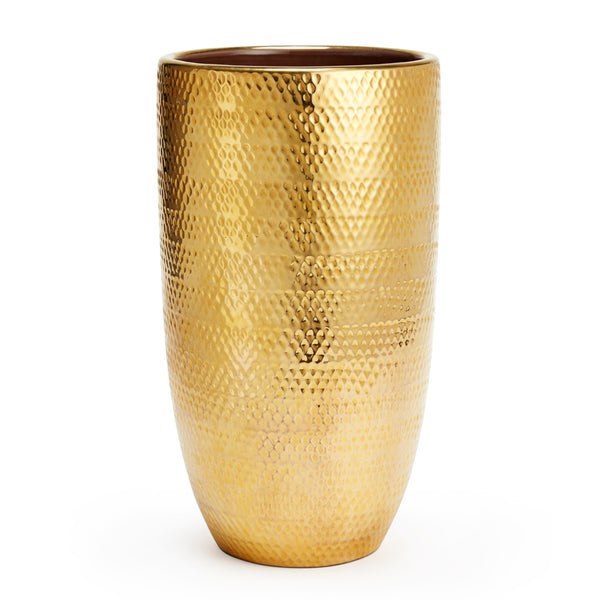 AERIN Textured Gold Vase, Large