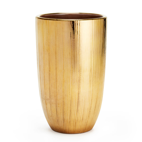 AERIN Textured Gold Vase, Small