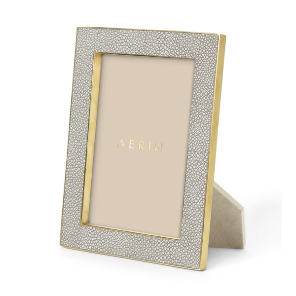 AERIN Shagreen Frame in Dove, 5 X 7