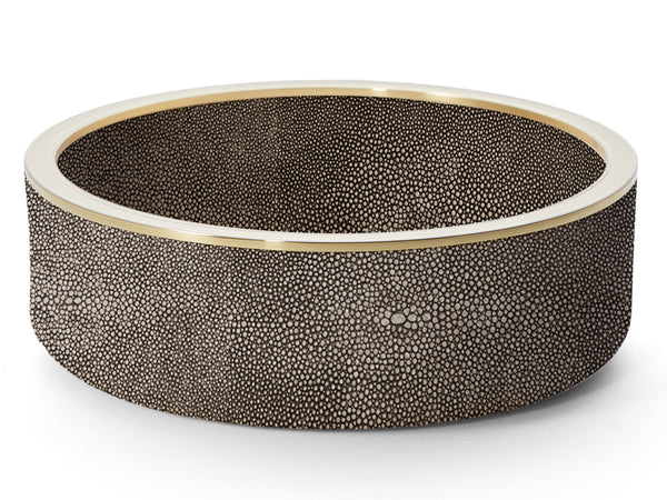 AERIN Chocolate Shagreen Wine Coaster