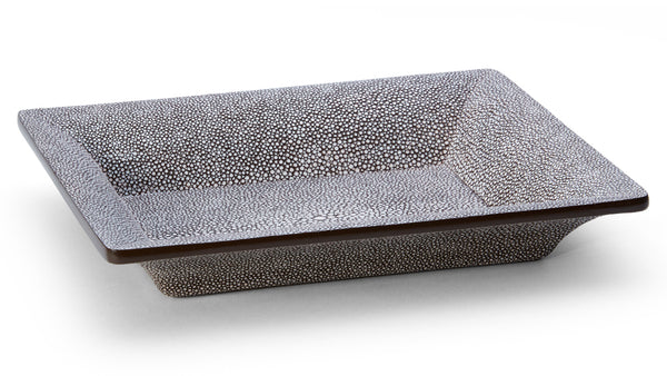 AERIN Chocolate Shagreen Rectangular Vide Poche