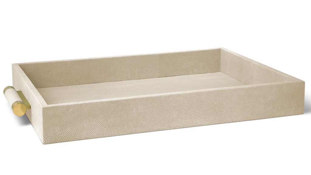 AERIN Classic Wheat Shagreen Serving Tray